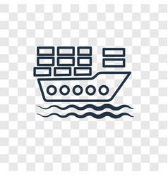 cargo boat concept linear icon isolated on vector image