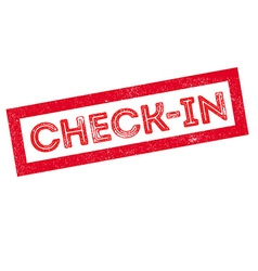 Check-in rubber stamp vector