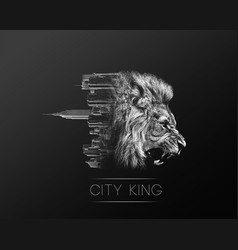 city king vector image