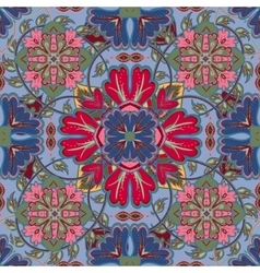 Colorful glaze seamless pattern mandalas vector