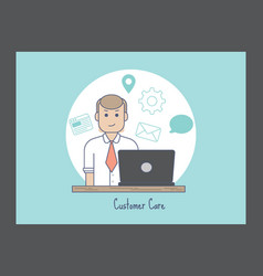 Customer care icon vector