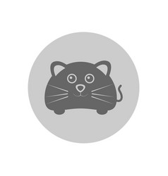 Cute mouse circular icon vector
