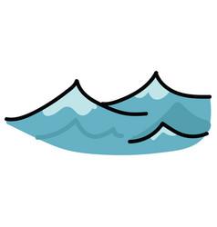 Cute ocean waves cartoon motif vector