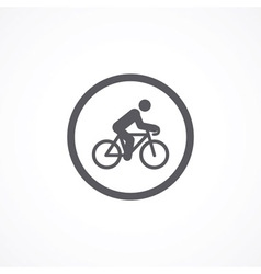 Cyclist icon vector image