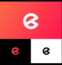 e letter monogram web business card vector image