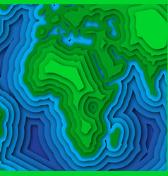 Earth planet background in 3d paper cut design vector