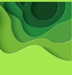 Eco abstract green paper cut background vector
