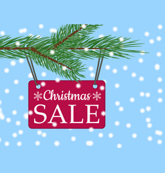 eps 10 christmas sale banner with red poster with vector image