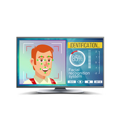 face recognition and identification face vector image