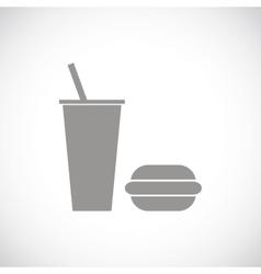 Fast food black icon vector image