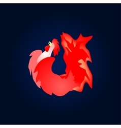 Fiery red cock Chinese new year vector