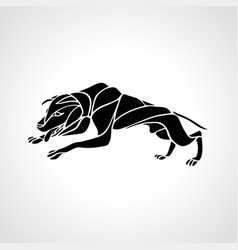 Fighting dog pit bull terrier dog or canine wavy vector
