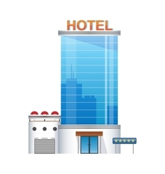 Five-star hotel building 3d icon vector