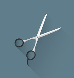 flat hairdresser scissors icon vector image