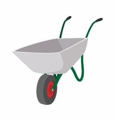 Garden wagon cartoon icon vector image