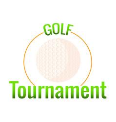 Golf tournament label vector