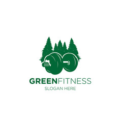 green fitness vector image