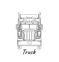 Hand drawn truck eps 10 vector