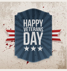 Happy veterans day holiday banner vector