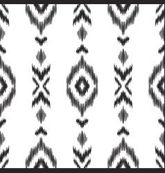 ikat seamless pattern in ethnic style vector image