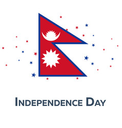 independence day of nepal patriotic banner vector image