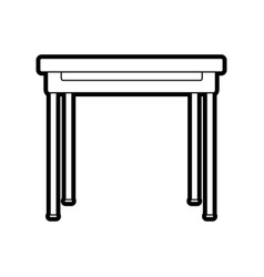 Isolated table design vector