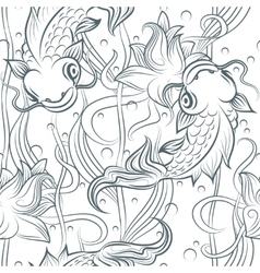 Koi fish seamless pattern vector