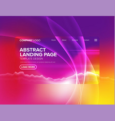 landing page template design vector image