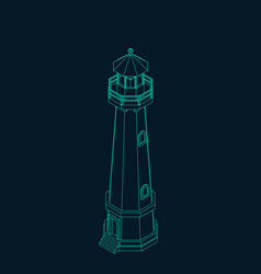 lighthouse outline vector image