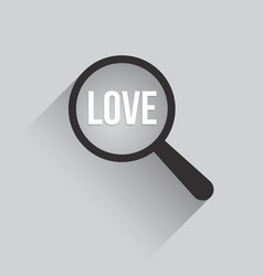 love word magnifying glass vector image