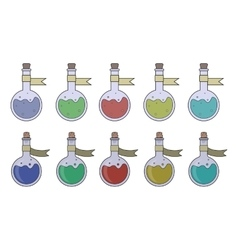 Magic potions set vector image
