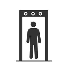 Metal detector portal glyph icon vector