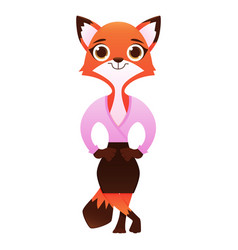 modern business woman fox vector image