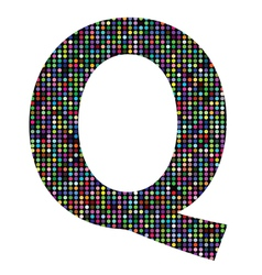 Multicolor letter Q vector