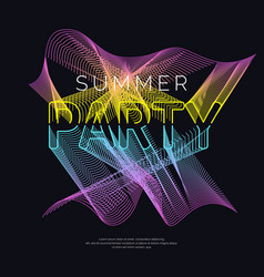 Night party abstract background with a dynamic vector