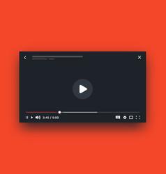 online player live stream video mockup media vector image