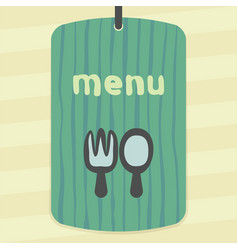 Outline fork and spoon icon modern infographic vector