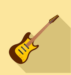 play guitar icon flat style vector image
