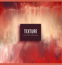 Red watercolor texture background in grunge style vector