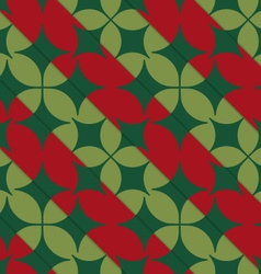 Retro 3D bright green and red with pointy four vector