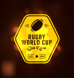 Rugby world cup logo sport vector