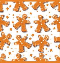 seamless pattern christmas or new year dancing vector image