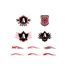 set of auto car logo template vector image