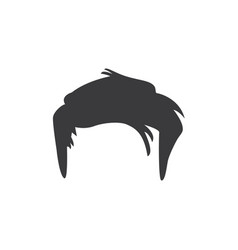 short male hair icon vector image