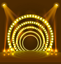 Show light podium yellow background vector