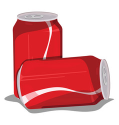Soda can on white background vector