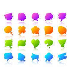 Speech bubble simple gradient icon note set vector
