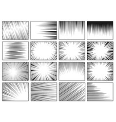 Speed lines backgrounds fast motion vector