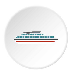 Steamship icon circle vector