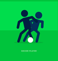 stick figures soccer or football players vector image